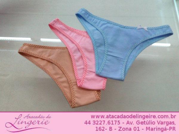 6e6dbc379 CALCINHA JUVENIL ATACADO Atacadao de lingerie